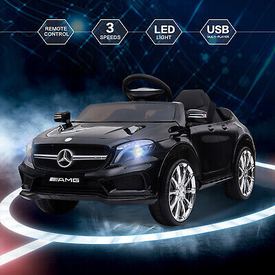 12V Kids Ride On Car Electric Licensed MERCEDES BENZ Remote Control Motors Black • 113.99£