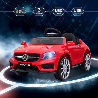 12V Kids Ride On Car Electric Licensed MERCEDES BENZ Remote Control Motors Red • 108.99£