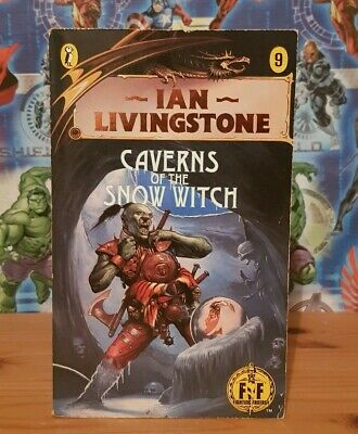 Fighting Fantasy Livingstone #9 Caverns Of The Snow Witch PB • 49.99£