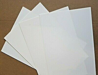 Styrene Sheet, Card.WHITE. Single Sheet 300mm X 228mm. Please Select Thickness • 2.90£