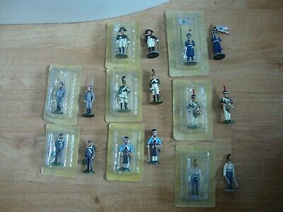 L150 Job Lot Of 8 X Eaglemoss Napoleonic War Figures / Soldiers - 1/32 . • 9.99£