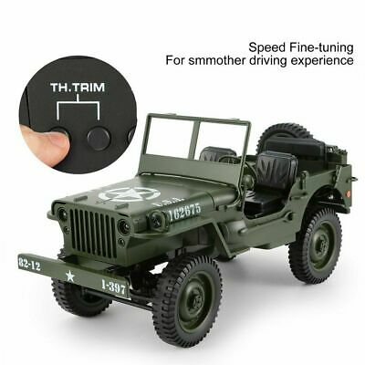 Toy Car Military Model 1:10 Mini Jeep Remote Control Buggy 4WD RC Truck Off-Road • 49.99£