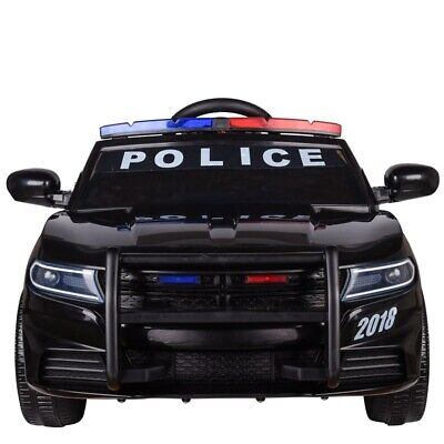 Kids Electric Ride On 12v Police Car With Parental Remote Control Flashing Siren • 129.99£