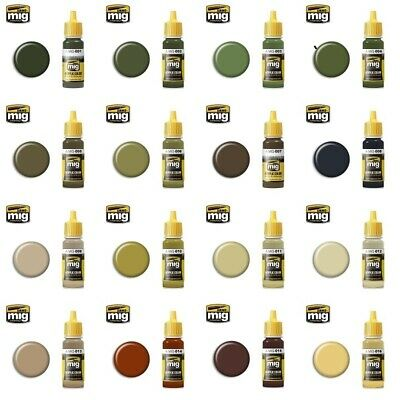 Ammo By Mig Acrylic Paints (Singles Choose Your Paint Colour From Full Range) • 3.39£