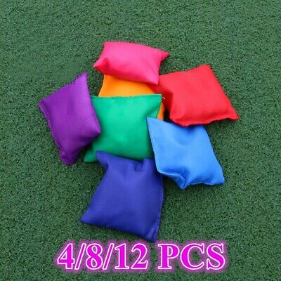 12X Colourful Bean Bags Throwing Catching Sports PE Playground Juggling Beanbags • 7.99£