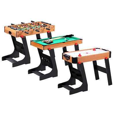 Football Table Folding Gaming Game Sports Pool Air Hockey Foosball Soccer Indoor • 38.99£