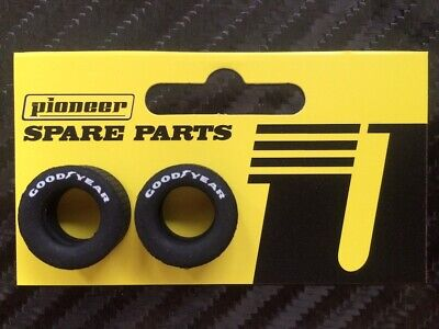 Pioneer Slot Car 1:32 Scale Generic Racing Rear Tyres - White Good Year Print • 3.50£