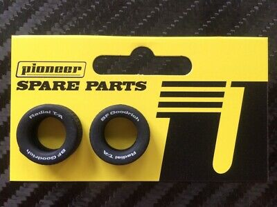 Pioneer Slot Car 1:32 Scale Generic Front/rear Street Tyres - White Bfg Print • 3.50£