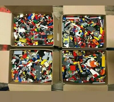 LEGO Bundle 2kg Mixed Bricks Parts Pieces Minifigures + Accessories Job Lot Set • 34.98£