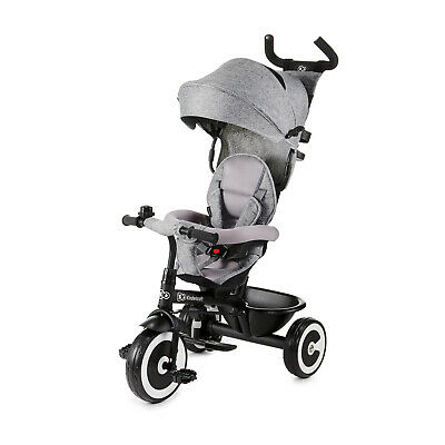 Kinderkraft Tricycle ASTON Baby Push Trike Kids First Bike Pushchair Gray • 79.95£