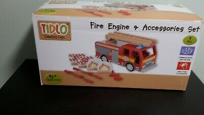 Tidlo Timeless Toys Fire Engine/ Slight Damage To Roof Panel/ New/ Free P&p • 29.99£