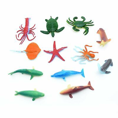12 Sea Animals Figures Plastic Kids Birthday Party Bags Fillers Collectible Toys • 3.19£