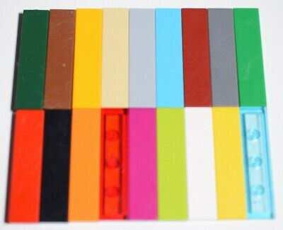 Lego Genuine Pack Of 25 Tile Flat Plates 1x4 Part Number 2431 Choose Your Colour • 4.49£