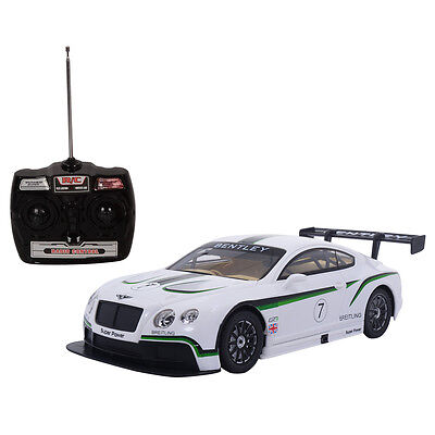 1:14 Official Licensed Bentley Continental GT3 Radio Remote Control Car Toys New • 11.99£