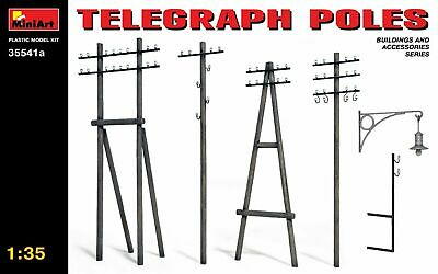 Telegraph Poles WWII (Building & Accesories Series) 1/35 MiniArt 35541a • 7.80£