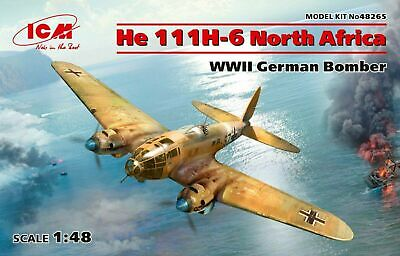 He 111H-6 North Africa, WWII German Bomber (Plastic Model Kit) 1/48 ICM 48265 • 38.09£