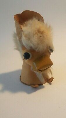 1970's VINTAGE LEATHER TOY DONKEY  Collectable Retro Toy • 10£