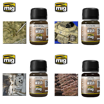 Ammo By Mig Enamel Washes (Choose Your Wash Colour) • 6.69£