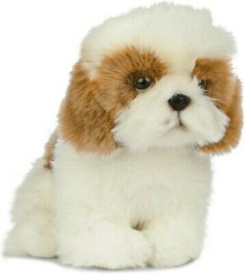 NEW LIVING NATURE SHIH TZU DOG 20cm PUPPY AN512 SOFT TOY REALISTIC ANIMAL FLUFFY • 17.99£