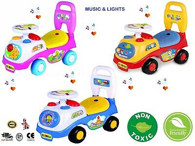 Kids First Ride On Toy Car Girls Boys Push Along Musical Car Gift Genuine UK • 19.50£