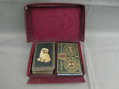 BEZIQUE Set - 1920's With  PEKINESE DOGS   Playing Cards • 23£