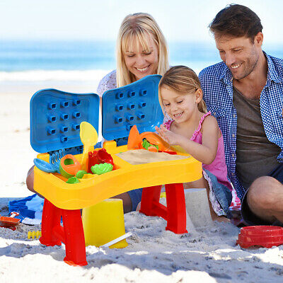 2 IN 1 30pcs Children Kids Sand And Water Table Set Sandpit Beach Play Toy Set • 24.95£