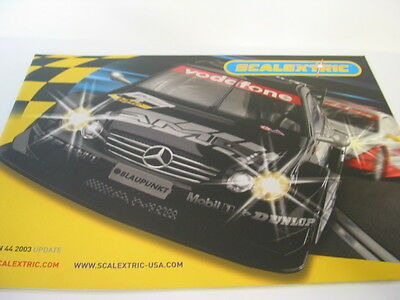 SCALEXTRIC  CATALOGUE 44th   EDITION 2003 Update Excellent Condition • 4£