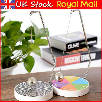Magnetic Decision Maker Ball Determine Swing Pendulum Office Desk Game Play Toy • 5.99£