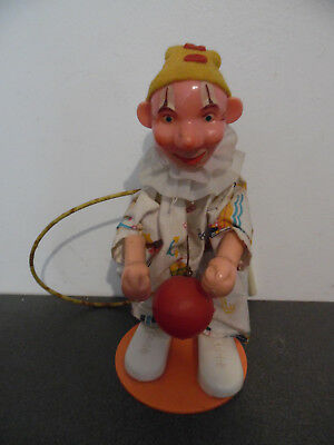 Vintage Toy Old Clown To The / Of Ball Celluloid With Mechanism 1960? • 26.69£