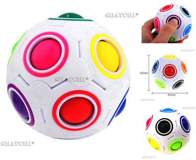 Fidget Stress Reliever Magic Rainbow Ball Fun Cube Fidget Puzzle Education Toy • 97.99£