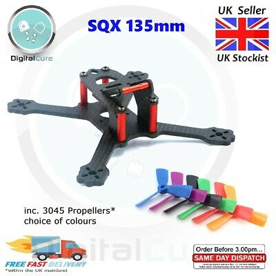 SQX135 3  135mm Mini Quadcopter Frame Kit + Propellers - FPV Racing Drone • 15.95£