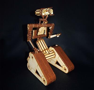 Wooden Laser Cut Johnny 5 Five Is Alive Robot Short Circuit Model Puzzle Kit • 25.99£