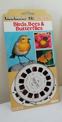 1980's Vintage Viewmaster 3D Birds, Bees & Butterflies  D236 - Sealed  • 15£