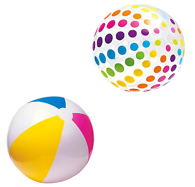Inflatable Panel Blow Up Beach Ball 20  24  42  Holiday Party Swimming Garden • 4.99£