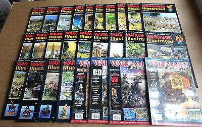 MULTI-LIST OF BACK ISSUE WARGAMES ILLUSTRATED MAGAZINE FROM YEARS 2001 To 2013 • 4.95£