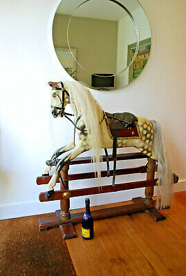 Vintage F H Ayres Of London Rocking Horse Lovely Colour And Needs New Home... • 999£