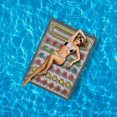 Inflatable Lilo Air Lounger Mat Bed Swimming Summer Holiday Pool Beach Float • 18.68£