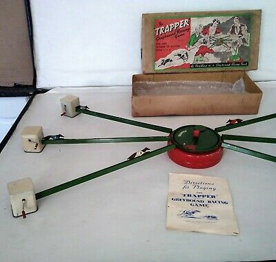 RARE   The Trapper  Greyhound Racing GAME In Its Original Box • 129£