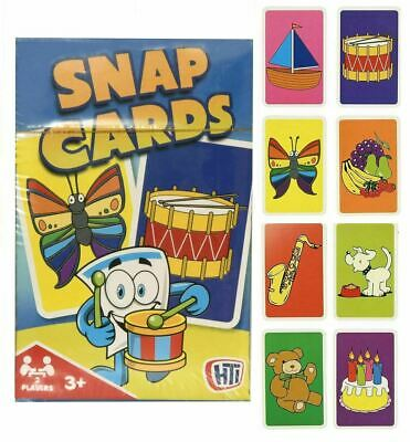 Childrens Kids Snap Cards Family Traditional Educational Game Travel Toy • 1.99£