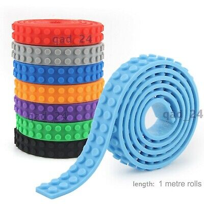 1M For Lego Compatible Tape Toy Block Flexible Sticky Roll Brick Road 2Dot Strip • 2.25£