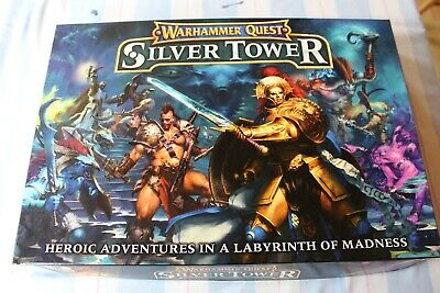 Games Workshop Warhammer Quest Silver Tower Boxed Game New Fantasy OOP • 179.99£
