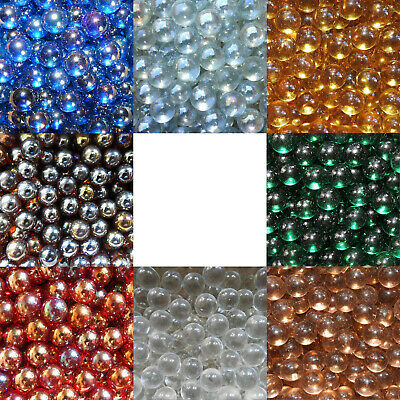 10 X 14mm (9/16  LUSTER & MATTE CLEARIE MARBLES - VARIOUS COLOURS - NEW • 1.10£