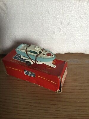 Tri- Ang Minic Motorway Boat On Trailer Rare Boxed • 49.95£
