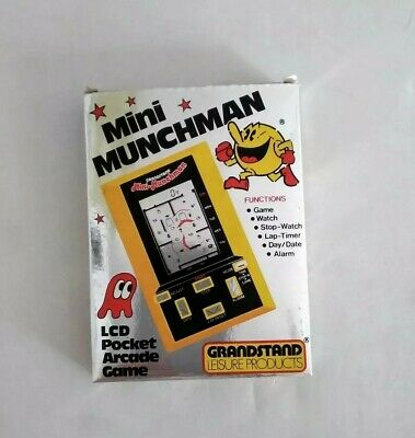 Grandstand Mini Munchman Electronic Game  (Pacman)  FANTASTIC  ( Boxed )     • 100£