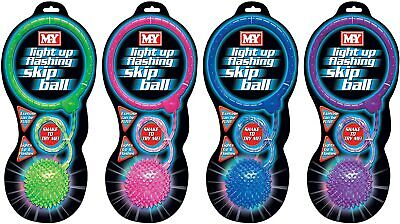 MY Kid's Light Up Flashing Skip Ball Skipping Rope Indoor Or Outdoor • 6.90£