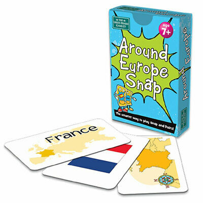 Around Europe Snap And Pairs Cards Game - Educational Game For Children 7+ Years • 2.95£