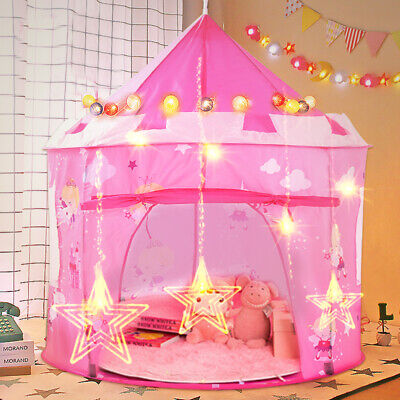 Princess Pop Up Castle Play Tent Girls Playhouse Wendy House Den Kids Fun • 17.59£