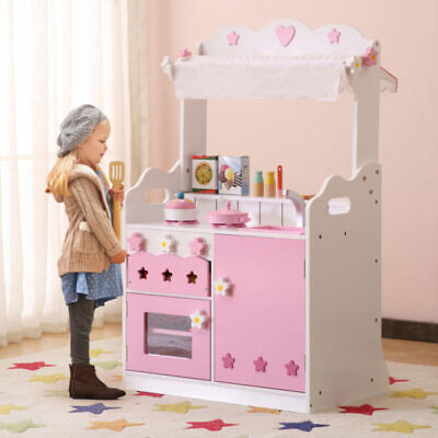 Children's Pink 2 In 1 Play Wooden Kitchen & Shop With 37 Accessories • 106.99£