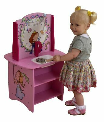 Kids Princess Wooden Play Kitchen • 27.99£