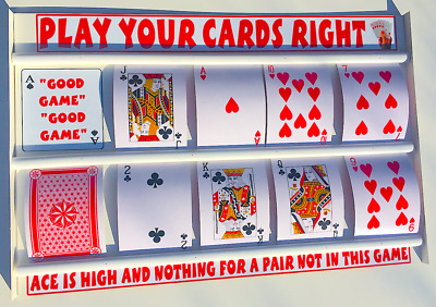 Play Your Cards Right Game With Large Playing Cards  • 39.99£